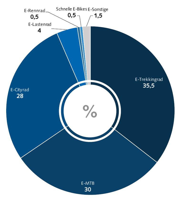 Tipologia vendite eBike in Germania nel 2020